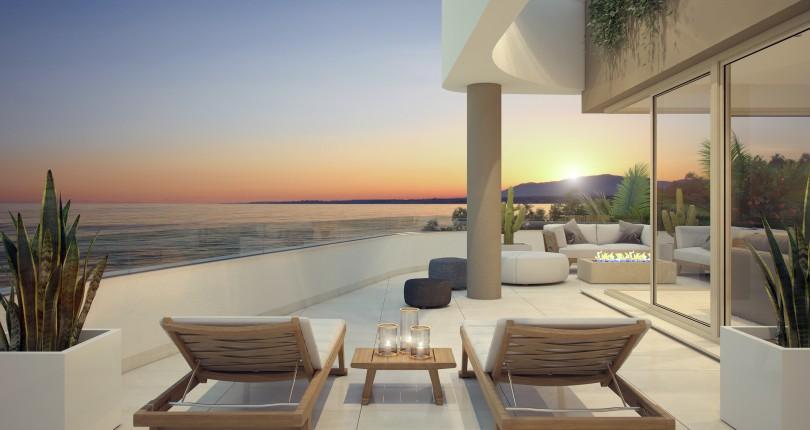 New development with panoramic sea views