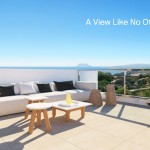 Terrace with spectacular sea views to Gibraltar